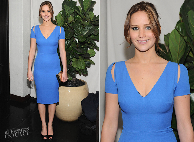 Jennifer Lawrence in Victoria Beckham | W Magazine's Pre-Golden Globes Party