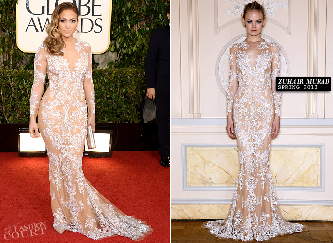 Jennifer Lopez in Zuhair Murad | 2013 Golden Globes