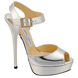 Jimmy Choo RAVEN Spring 2013 Platform Sandals (Metallic)