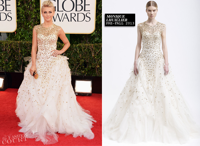 Julianne Hough in Monique Lhuillier | 2013 Golden Globes