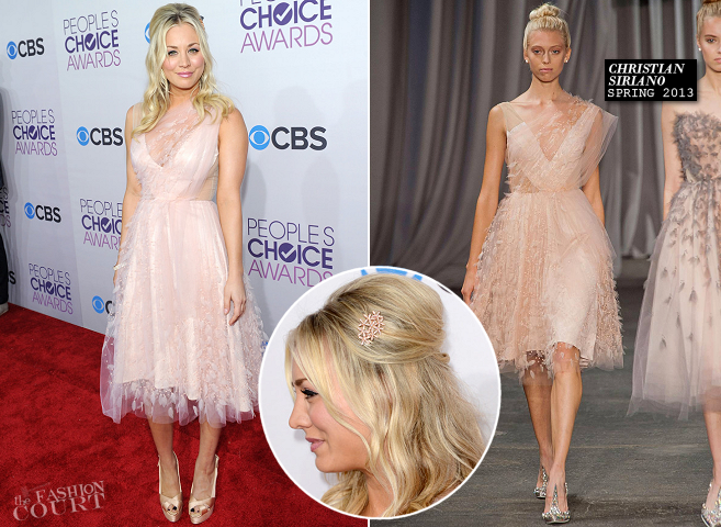 Kaley Cuoco in Christian Siriano | People's Choice Awards 2013