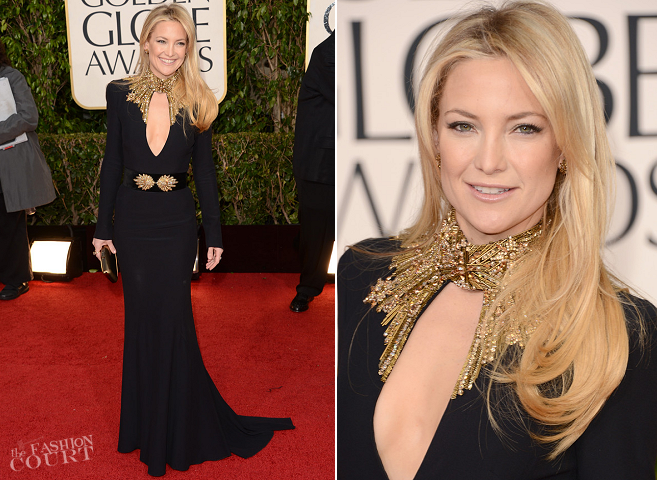 Kate Hudson in Alexander McQueen | 2013 Golden Globes