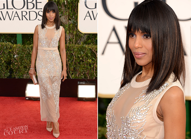 Kerry Washington in Miu Miu | 2013 Golden Globes