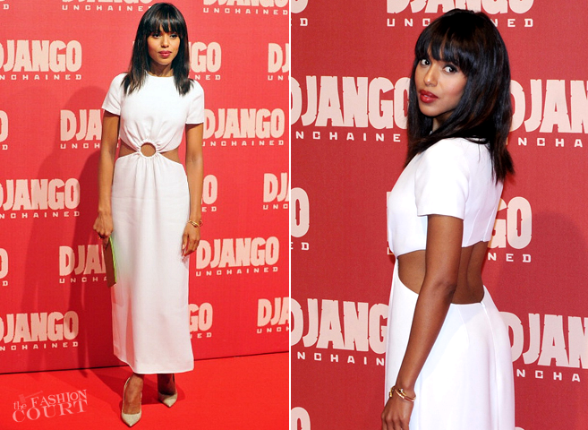 Kerry Washington in Prada | 'Django Unchained' Rome Premiere