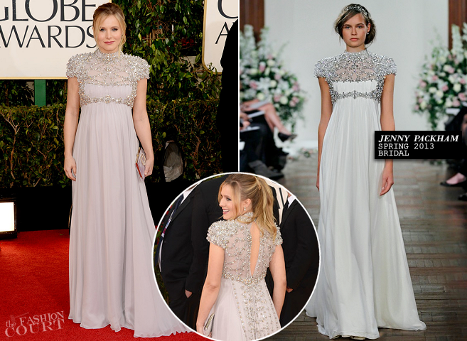 Kristen Bell in Jenny Packham | 2013 Golden Globes