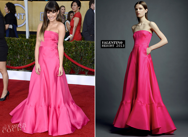 Lea Michele in Valentino | 2013 SAG Awards