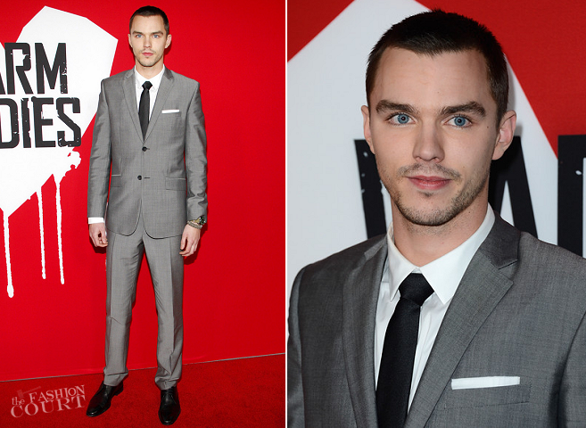 Nicholas Hoult in Balenciaga | 'Warm Bodies' Hollywood Premiere