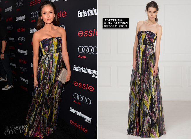 Nina Dobrev in Matthew Williamson | Entertainment Weekly Pre-SAG Party
