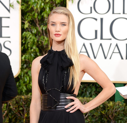 Rosie Huntington-Whiteley in Saint Laurent | 2013 Golden Globes