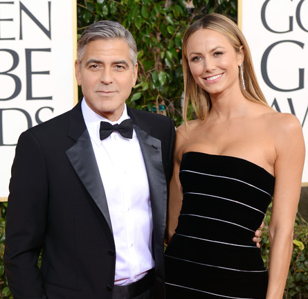 Stacy Keibler in Armani Privé | 2013 Golden Globes