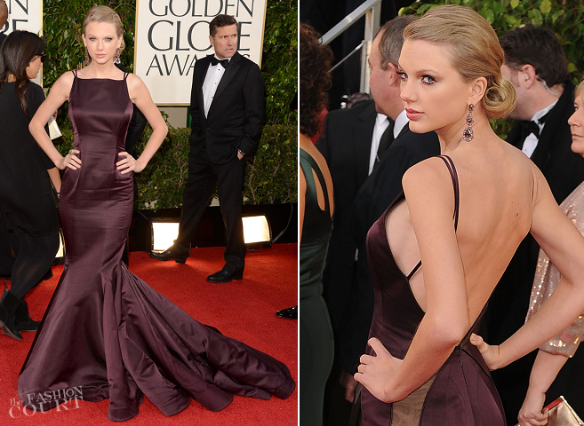 Taylor Swift in Donna Karan Atelier | 2013 Golden Globes