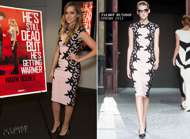 Teresa Palmer in Talbot Runhof | 'Warm Bodies' Australians in Film Screening