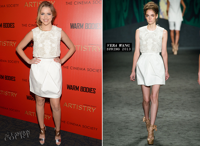 Teresa Palmer in Vera Wang | 'Warm Bodies' NYC Screening