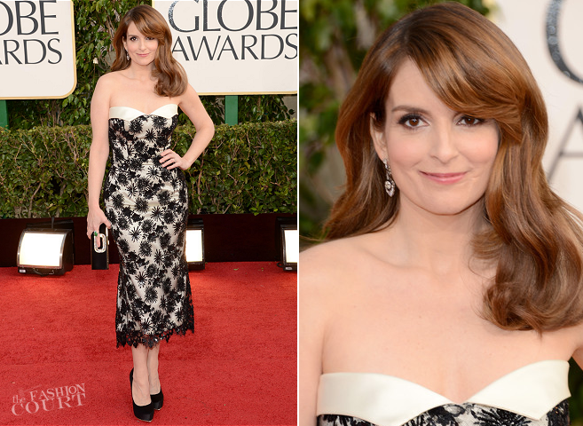 Tina Fey in L'Wren Scott | 2013 Golden Globes