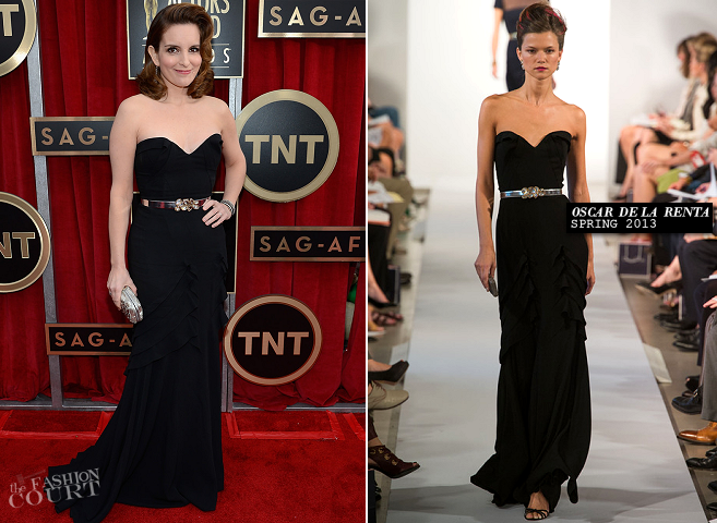 Tina Fey in Oscar de la Renta | 2013 SAG Awards