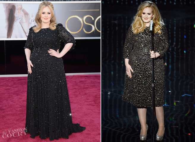 Adele in Jenny Packham & Burberry | 2013 Oscars