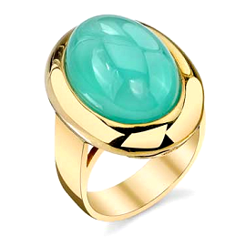 Adeler 14K Yellow Gold Chalcedony Ring