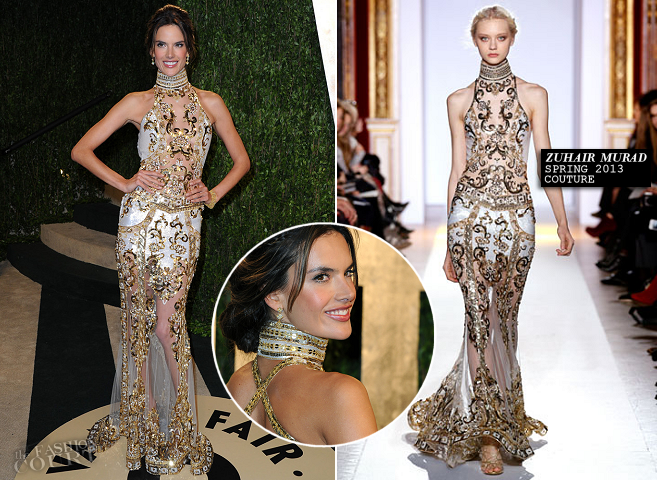 Alessandra Ambrosio in Zuhair Murad Couture | 2013 Vanity Fair Oscar Party