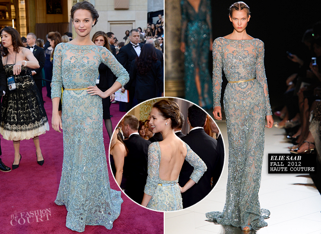 Alicia Vikander in Elie Saab Couture | 2013 Oscars