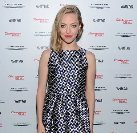 Amanda Seyfried in Christian Dior | Vanity Fair Campaign Hollywood 2013 Pre-Oscars Celebration of 'Les Misèrables'