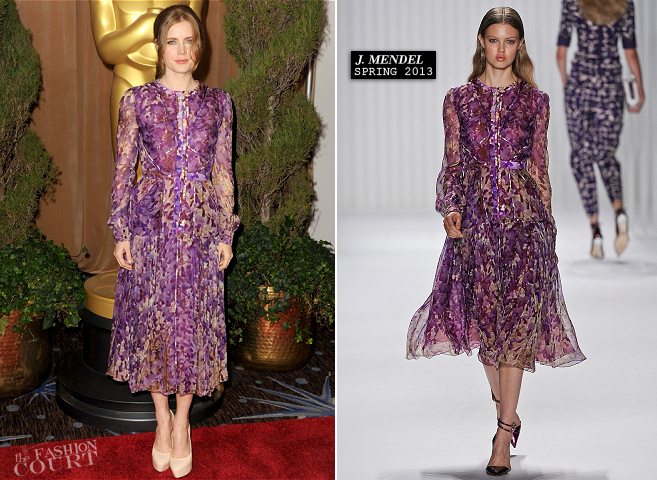 Amy Adams in J. Mendel | Oscar Nominees Luncheon 2013