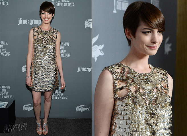 Anne Hathaway in Gucci | 2013 Costume Designers Guild Awards