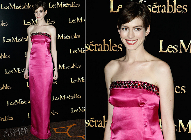 Anne Hathaway in Prada | 'Les Misèrables' Paris Premiere