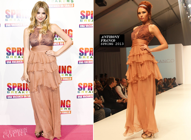 Ashley Benson in Anthony Franco | 'Spring Breakers' Rome Screening