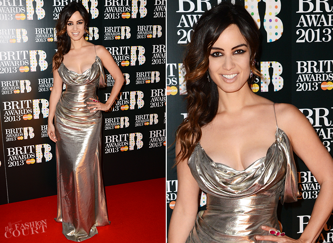 Bérénice Marlohe in Donna Karan Atelier | The BRIT Awards 2013