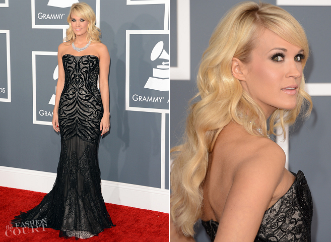 Carrie Underwood in Roberto Cavalli | 2013 GRAMMY Awards
