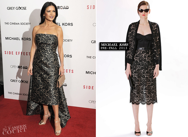 Catherine Zeta-Jones in Michael Kors | 'Side Effects' NY Premiere