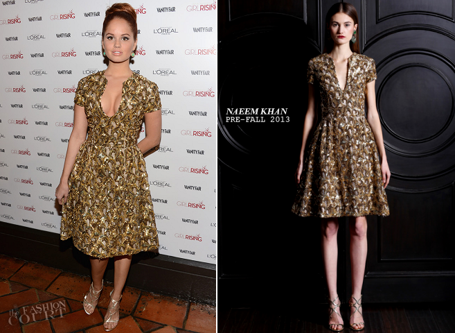 Debby Ryan in Naeem Khan | Vanity Fair Girl Rising Party 2013