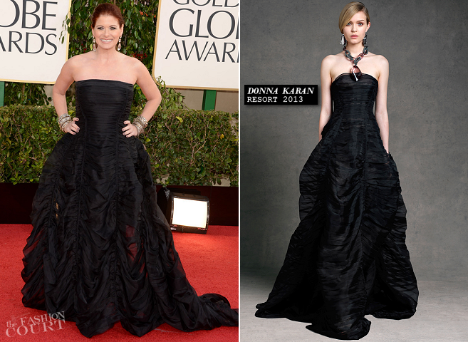Debra Messing in Donna Karan | 2013 Golden Globes