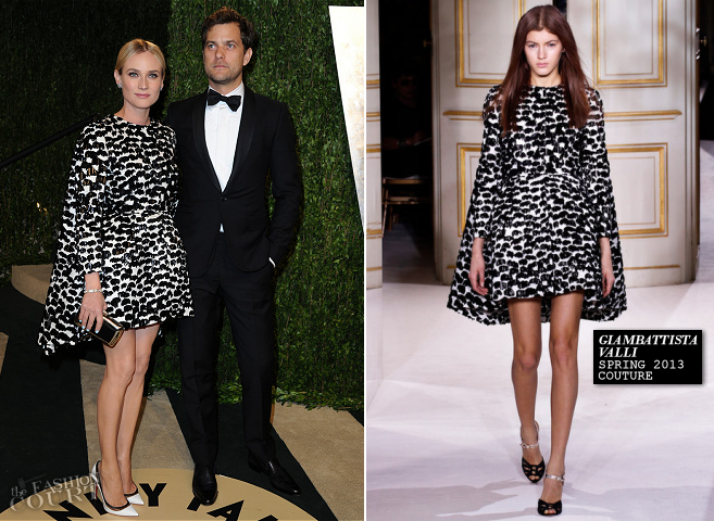 Diane Kruger in Giambattista Valli Couture | 2013 Vanity Fair Oscar Party