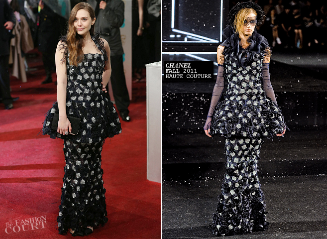 Elizabeth Olsen in Chanel Couture | 2013 BAFTAs