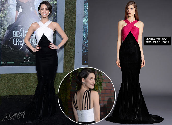 Emmy Rossum in Andrew Gn | 'Beautiful Creatures' Hollywood Premiere