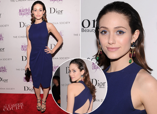 Emmy Rossum in Christian Dior | 'Beautiful Creatures' NYC Screening