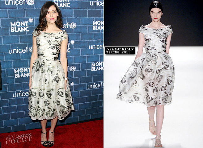 Emmy Rossum in Naeem Khan | Montblanc And UNICEF Host Pre-Oscar Brunch