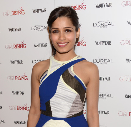 Freida Pinto in Antonio Berardi | Vanity Fair Girl Rising Party 2013