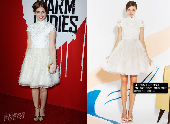 Holland Roden in Alice + Olivia | 'Warm Bodies' Hollywood Premiere