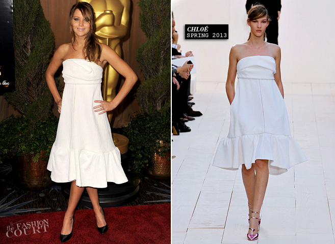 Jennifer Lawrence in Chloé | 2013 Oscar Nominations Luncheon