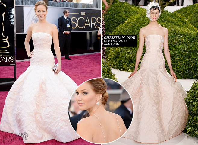 Jennifer Lawrence in Christian Dior Couture | 2013 Oscars