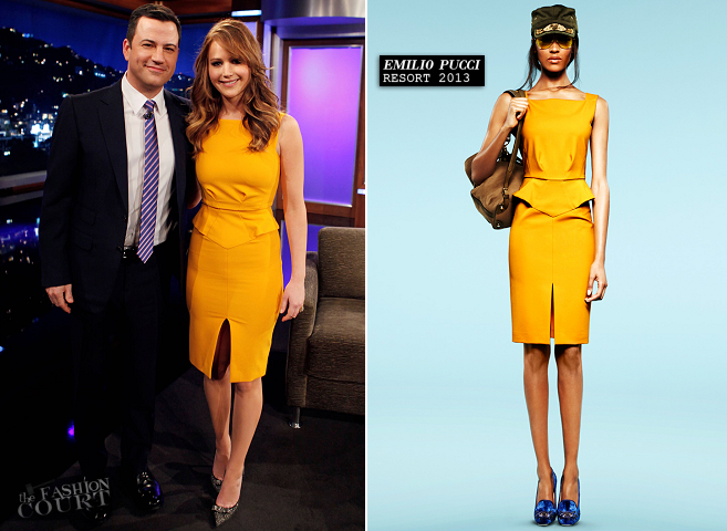 Jennifer Lawrence in Emilio Pucci | 'Jimmy Kimmel Live'