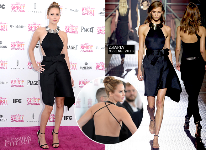 Jennifer Lawrence in Lanvin | 2013 Film Independent Spirit Awards
