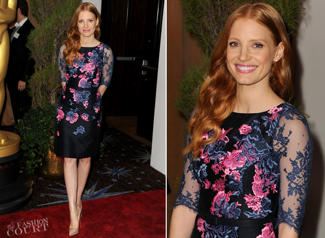 Jessica Chastain in Erdem | Oscar Nominees Luncheon 2013