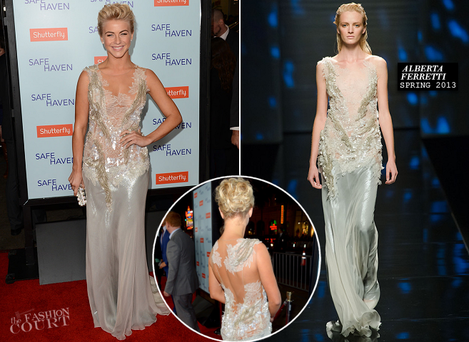 Julianne Hough in Alberta Ferretti | 'Safe Haven' Hollywood Premiere