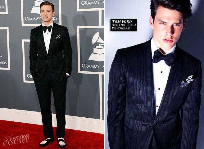 Justin Timberlake in Tom Ford | 2013 GRAMMY Awards