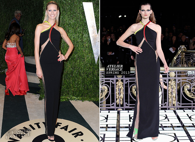 Karolina Kurkova in Atelier Versace | 2013 Vanity Fair Oscar Party