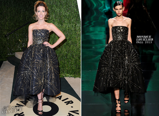Kate Beckinsale in Monique Lhuillier | 2013 Vanity Fair Oscar Party
