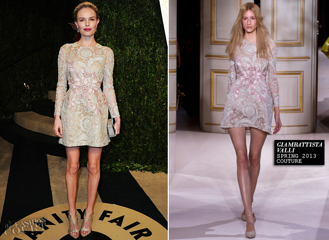 Kate Bosworth in Giambattista Valli Couture | 2013 Vanity Fair Oscar Party